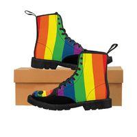 Rainbow Skull Men's Canvas Boots $59.99