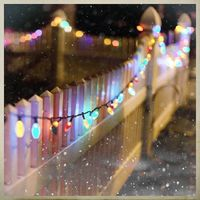 the big lights on white picket fence - simple and nostalgic