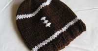 Knitted Baby's First Football Beanie Hat / by TheRobinsonsHouse, $12.00