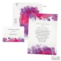 Set the tone for romance with this magnificent watercolor #wedding #invitation. Click through to find the Watercolor Splash Wedding Invitation in Grapevine.