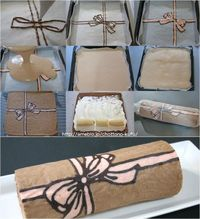 Cake roll...this is a cool idea, you could draw anything!