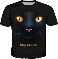 Black Cat Halloween T-shirt $30.00