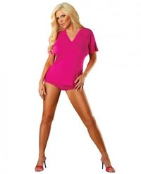Bamboo Magic V-neck Tee Pink Lg - Our Price: $25.99 - http://www.sextoysshop.com/bamboo-magic-v-neck-tee-pink-lg.html