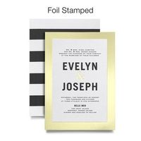 Gilded Romance - Signature Foil Wedding Invitations - Magnolia Press - White : Front