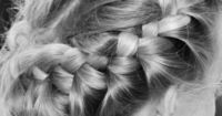 crown braids - I've done this once to my hair (successfully). As soon as my hair is long enough, I must perfect it.