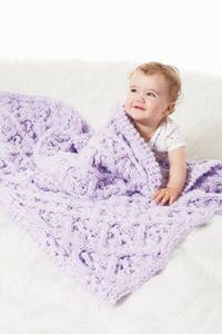 Lattice Cable Baby Blanket, large