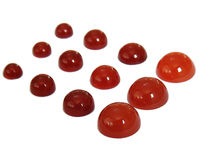 12 Round Cabochons Carnelian Gemstones, 4 sizes, 8mm, 6mm, 5mm and 4mm for your Cufflink Jewelry or Stud Earrings $50.26