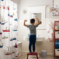 Nautical Blue and White Stripe Bath Accessories Collection | The Land of Nod