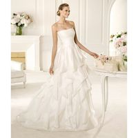 Empire A-line Strapless Ruching Wedding Dresses