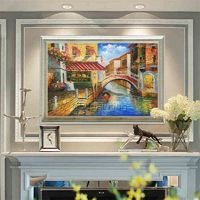 Cityscape painting Oil Paintings on canvas art original painting Venice italy art Wall pictures home decor hand painted cuadros abstractos $109.00