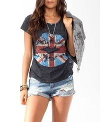 Union Jack Lip Stain Tee | FOREVER21 - 2017307687
