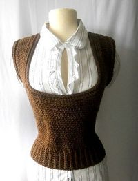 Crochet Scoop Neck Vest by Melissa Young for Gu'Chet
