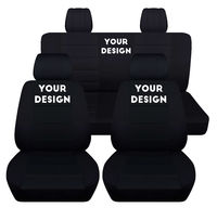 Fits 2011 to 2018 Jeep Wrangler JK 2 Door Front and Rear Seat Covers Airbag Friendly 8 Color Choices Choose Your Own Design $179.99