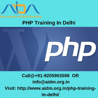 Get hands on the live projects of PHP by joining the best PHP course in laxmi nagar Delhi designed the expert team of AIDM (Asian Institute of Digital Marketing), you can avail this advanced level course in Rs 6000 only, and can go one step ahead ...