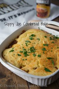 Sloppy Joe Cornbread Bake | Dinners, Dishes, and Desserts - Part 1
