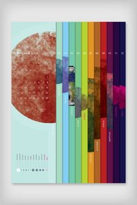 Calendar Planetarium by Emigo via Behance *not accurate to the planets' scale or surface, but still beautiful*