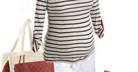 maternity striped top, created by enlightenedgirl on Polyvore