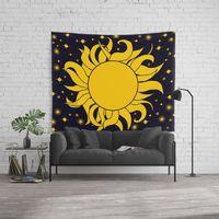Yellow Sun & Stars Wall Tapestry. #sun #stars #yellow #tapestry #walltapestries #tapestries #walltapestries #wallhangings #walldecor #wallart #mandala #mandalas #mandalatapestry #mandalatapestries #mandalaart #spiritual #spirituality #zen #yoga #medi...
