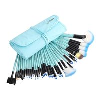 Makeup Brushes Set with Bag (Blue) - set of 32 brushes $19.89