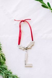 my holly ornament {pewter} | Lisa Leonard Designs I'd love to get one for each of the kids.