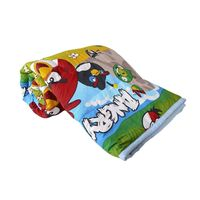 Angry Birds Cartoon Kids Design Print Single and dubal Bed Reversible AC Blanket | Indian Dohar $45.89