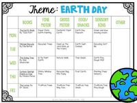 This week was jam packed with Earth Day themed fun We learned about recycling, planting trees, and of course, the planet Earth! **This post contains affiliate l