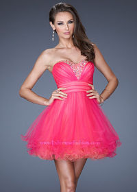 2013 La Femme 19461 Hot Pink/Coral Prom Dress