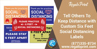 Tell Others To Keep Distance With Custom Six Feet Social Distancing Labels.jpg