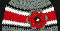 Cozy winter beanie hat for Ohio State fans in a variety of sizes for sale at�€�