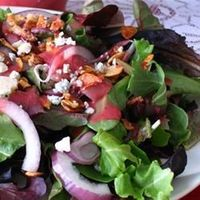 "Green Salad with Cranberry Vinaigrette | ""This recipe was phenomenal!! I used Gorgonzola cheese instead of blue and it was great. Thanks!"""