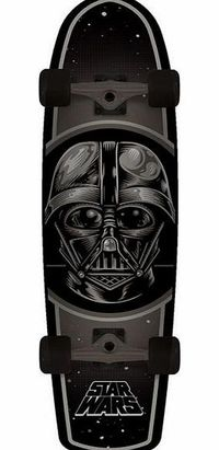 Santa Cruz X Star Wars Darth Vader Cruiser - Santa Cruz x Star Wars cruiser; Darth Vader graphic; Kicktail so you can still pop; Force sensitivity not guaranteed; Trucks: High quality Bullet 107s; Wheels: Star wars branded 66mm 78a durometer; Wi http://ww...