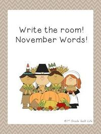 Write the Room! November Words!
