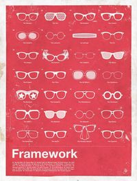 Moxy Creative created this poster collection that highlights some of the most familiar men's eyewear over the last 100 years. The compilation features
