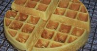 Scrumptious low carb paleo coconut flour waffles are easy to make. Just mix up the ingredients in a blender then pour in a Belgian waffle maker.