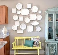 Would love to do a wall of pretty dishware in the breakfast room.