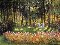 The Artist's Family in the Garden - Claude Oscar Monet