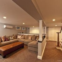Basement Design, Pictures, Remodel, Decor and Ideas - page 9. clever half-wall with posts idea to have open floor plan feeling but maintain support.