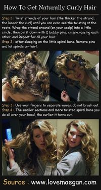 You can do these easy steps at night to have curls in the morning.