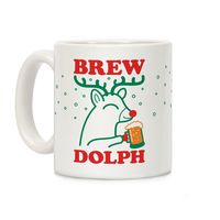 What Do You Think of This? �œ� Handcrafted in USA! �œ� Brewdolph Ceramic Coffee Mug $14.99
