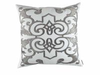 Mozart White & Silver Pillow by Lili Alessandra $300.00