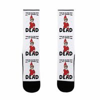 What Do You Think of This? �œ� Handcrafted in USA! �œ� Push Me To The Edge All My Friends Are Dead Parody US Size 7-13 Socks $15.99