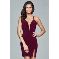 Faviana - Lace Up Back Cocktail Dress 8054 - Designer Party Dress & Formal Gown
