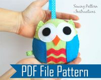 Owl PDF Sewing pattern , Kids craft Project