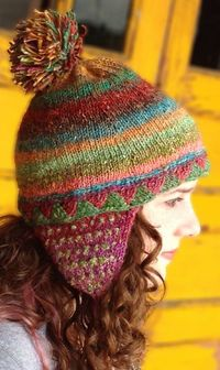 Earflap hat free knitting pattern