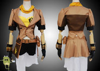 RWBY Yang Xiao Long Cosplay Costume Outfits + Wig