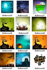 Halloween #25-36 Mural Art Ceramic Tile, Halloween Home Decor, Decoration Art Accent Gifts, Decorative, Coasters. Made in USA. $13.99