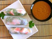Make your own Vietnamese style spring rolls and a quick peanut sauce for dipping!
