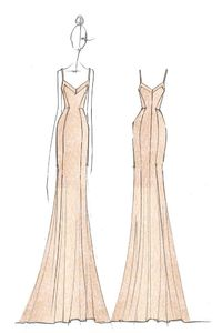 A sketch from the Erin Fetherston x Nordstrom Weddings collection. [Courtesy Photo]