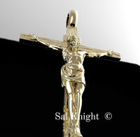 The cross by Sal Knight 14 karat gold cross wite yellow rose gold < #jewelry #oneofkind #specialorder #customize #honest #integrity #diamond #gold #rings #weddingband #anniversary #finejewelry #salknight