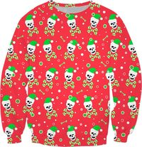 Christmas Skull And Bones Sweatshirt $59.95